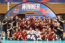 Čeští juniorští florbalisté ve finále MS v Brně porazili Finsko a obhájili tak zlato.