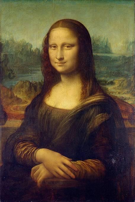 Obraz Mona Lisa po restaurování, které zajišťovalo Centrum francouzských muzeí pro výzkum a restaurování