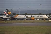 Letadlo cestovní kanceláře Thomas Cook. Ilustrační foto