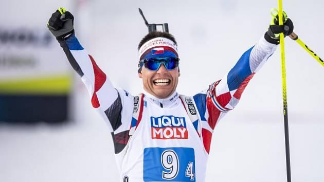 Nadšený Michal Krčmář na mistrovství světa.