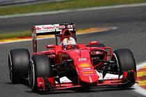 Sebastian Vettel ve Velké ceně Belgie.