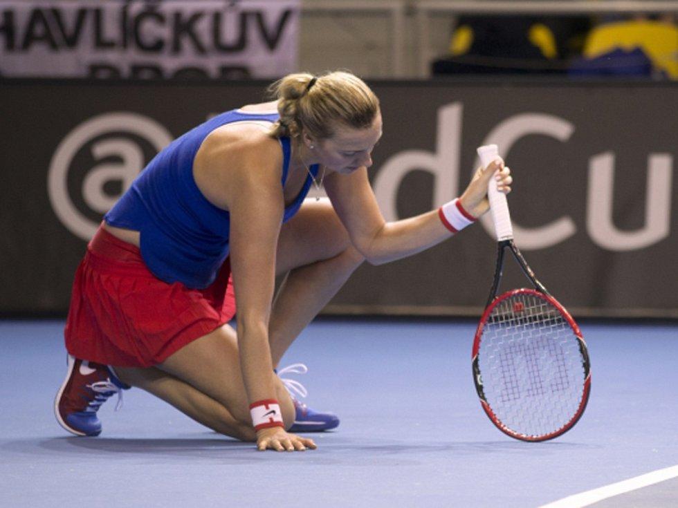 Petra Kvitová nestačila na Caroline Garciaovou.