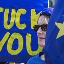 V Londýně demonstrovali lidé proti brexitu.
