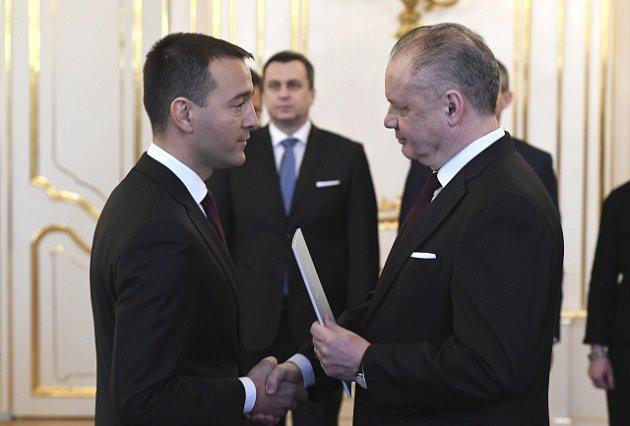 Tomáš Drucker se slovenským prezidentem Andrejem Kiskou