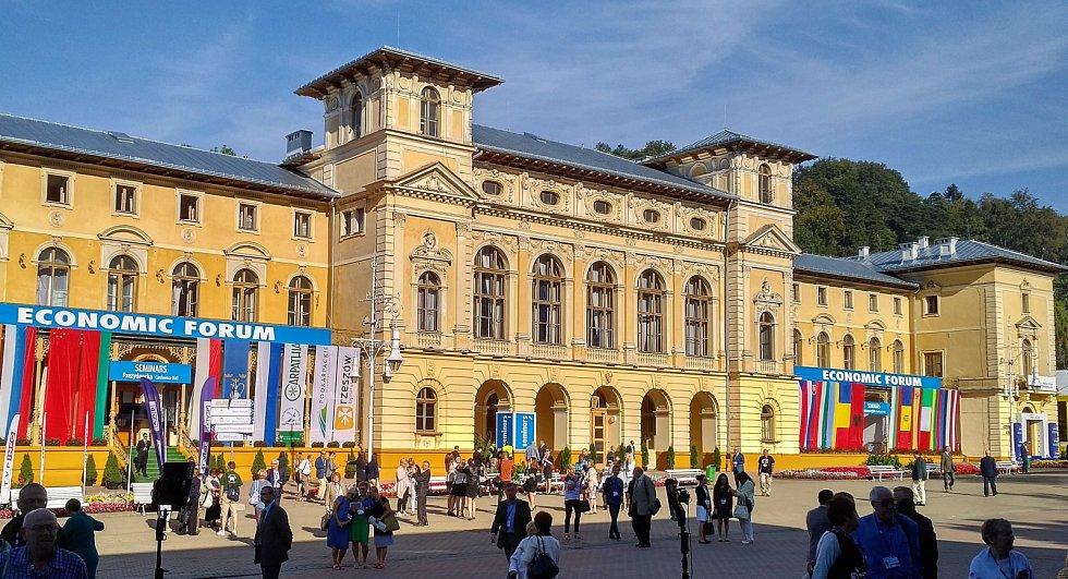 Místo konání Ekonomického fóra v polské Krynici.