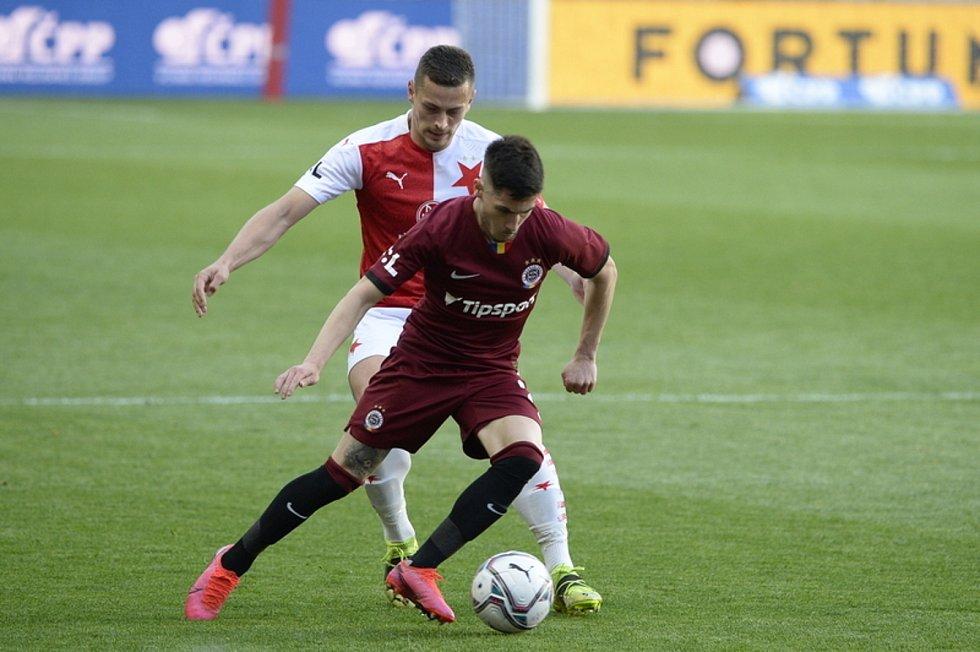 Utkání 26. kola první fotbalové ligy: Slavia Praha - Sparta Praha, 11. dubna 2021 v Praze