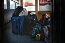 Greta Thunbergová ve vlaku Německých drah