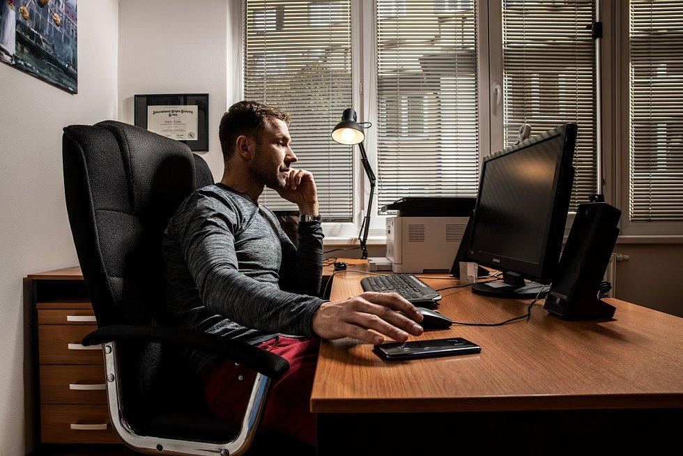 """""""V pracovně trávím asi nejvíc času,"""" říká Martin Šonka"""