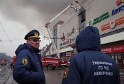 Požár v Kemerovu na ruské Sibiři