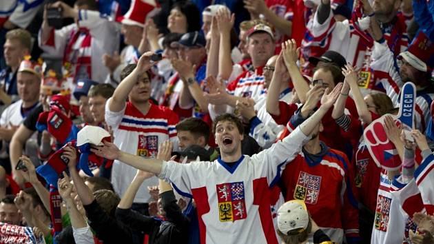 Hokejoví fanoušci na mistrovství světa.