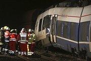 Nehoda osobního a nákladního vlaku v německém městě Meerbusch.