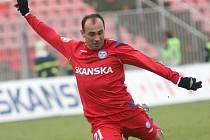 Brněnský fotbalista Tomáš Polách.
