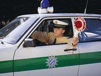 Německý policista. Ilustrační foto.