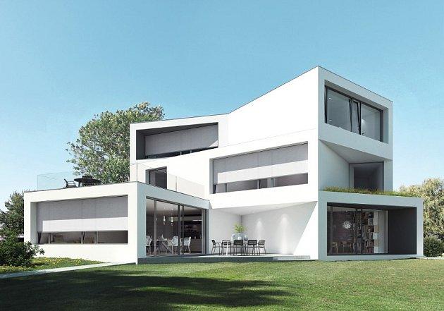 Vbytech irezidenčních domech jsou zachovány úžasné výhledy ipři zatažení textilních screenových rolet Schüco ZIP Design Screen.
