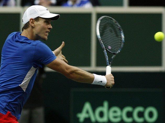 Tomáš Berdych ve finále Davis Cupu.