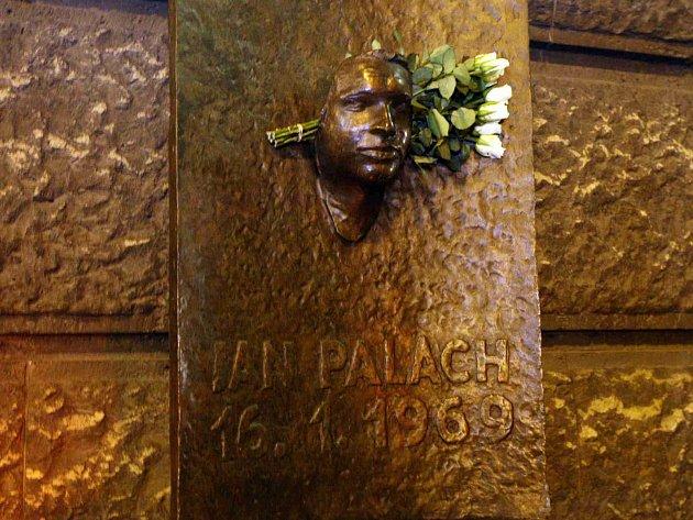 Pomník Jana Palacha vPraze