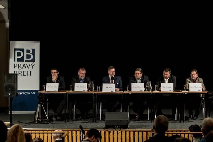 """Think-tank Pravý břeh uspořádal 19. ledna v Praze konferenci na téma """"Naděje na změnu? Trump, Brexit a co dál"""""""