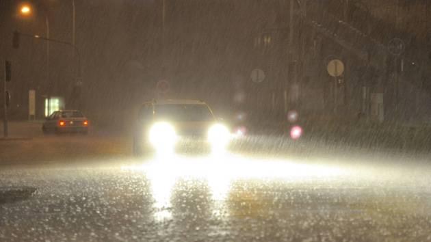 Bouřka, déšť - ilustrační foto