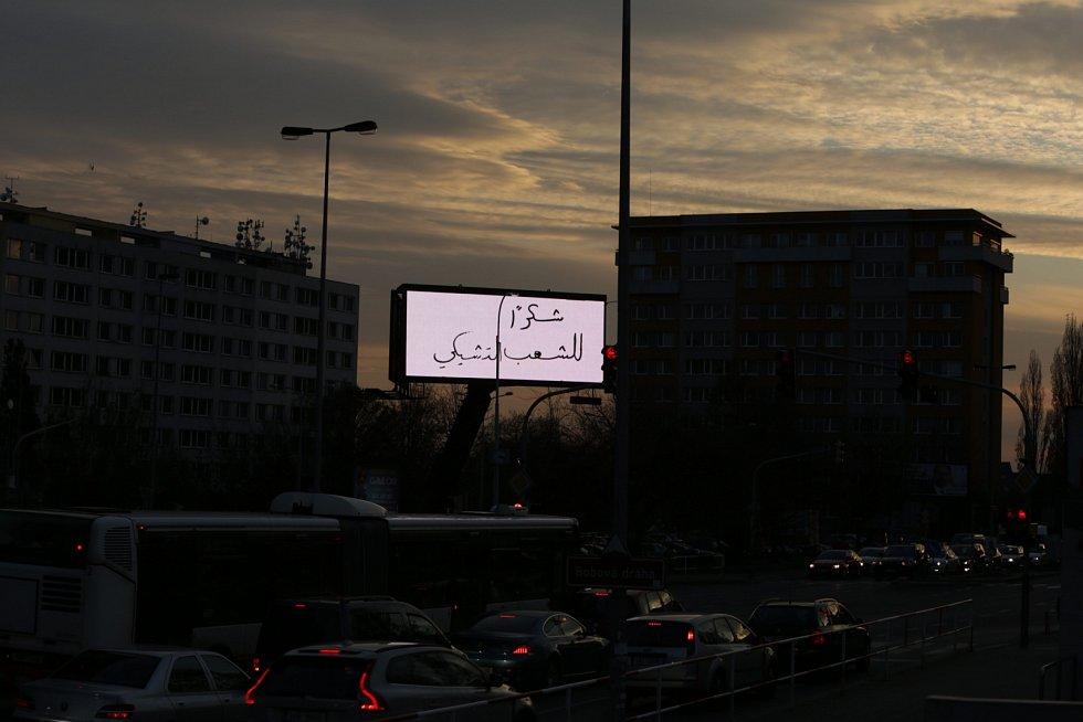 Poděkování ze Sýrie.