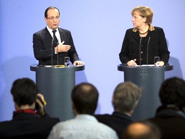 Německá kancléřka Angela Merkelová a francouzský prezident François Hollande.