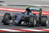 Nico Rosberg v tréninku na Velkou cenu Španělska.