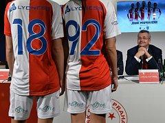 Slavia před jarní částí sezon představila nové dresy.