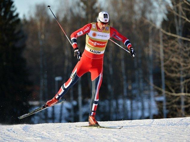 Petter Northug v prologu finále Světového poháru ve Falunu.