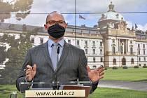 Ministr školství Robert Plaga (na snímku z 8. října 2020)