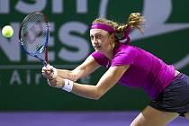 Petra Kvitová na Turnaji mistryň v Istanbulu proti Caroline Wozniacké.