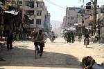 Syrské město Dúmá zničené po útoku syrské armády.