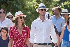 Na konci května navštívila Pippa společně se svým manželem Roland Garros