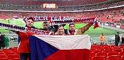 Čeští fanoušci ve Wembley.