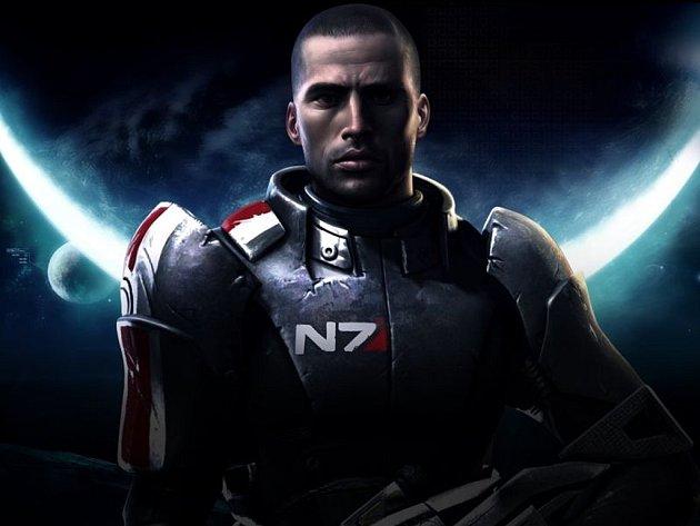 Hlavní hrdina počítačové hry Mass Effect.