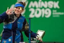 Česká střelkyně Nikola Mazurová na Evropských hrách v Minsku.
