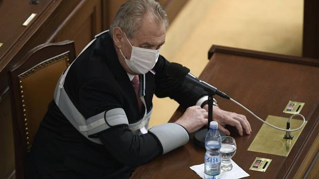 Prezident Miloš Zeman ve Sněmovně.