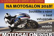 Soutěž o vstupenky na Motosalon 2018.