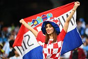 Chorvatská fanynka. Fotbalové MS Rusko 2018