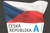 Česká pošta 14. října vydala poštovní známku, na které je vyobrazena vlajka České republiky.