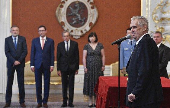 Prezident Miloš Zeman jmenoval nové soudce.