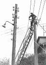 Práce na elektrickém vedení