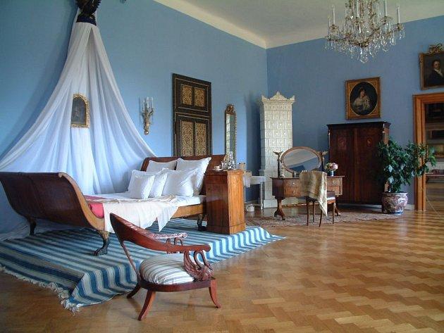 Zámek Častolovice: modrý pokoj