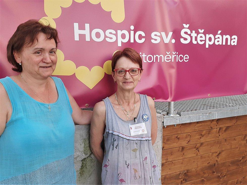 Zdena Taitlová a Alexandra Moštková z Hospice sv. Štěpána.