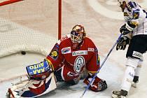Branku Pardubic hájil proti Plzni Jan Lašák.