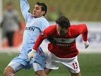 Martin Jiránek (vpravo) v dresu moskevského Spartaku.
