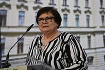 Ministryně spravedlnosti Marie Benešová vystoupila 13. července 2020 v Praze na tiskové konferenci po schůzi vlády