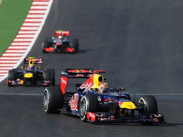 Sebastian Vettel ve Velké ceně USA.