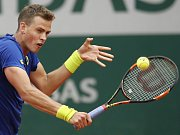 Vasek Pospisil na Roland Garros.