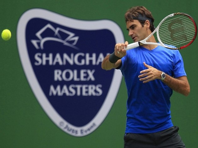 Roger Federer v Šanghaji.