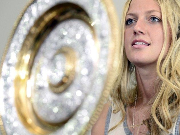 Dvojnásobná wimbledonská šampionka Petra Kvitová po příletu z Londýna.