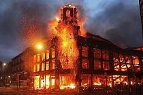 Násilí a nepokoje v Londýně.